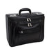 "McKlein USA Sheridan Leather 17"" Detachable Wheeled Catalog Case Black"