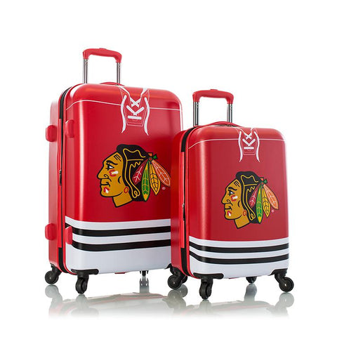 Heys NHL 2pc Chicago Blackhawks Spinner Luggage Set