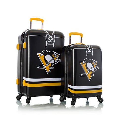 Heys NHL 2pc Pittsburgh Penguins Spinner Luggage Set