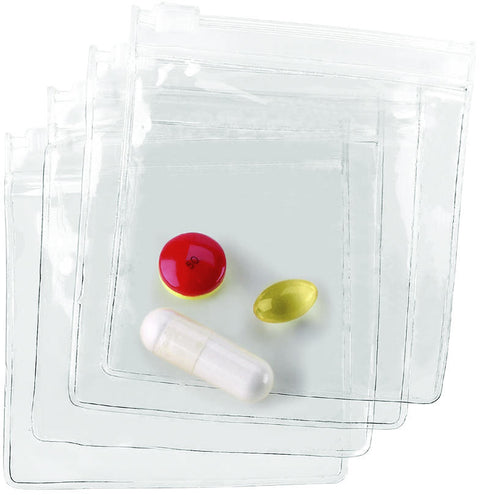 Lewis N Clark Pill Pouches Set of 4 Clear