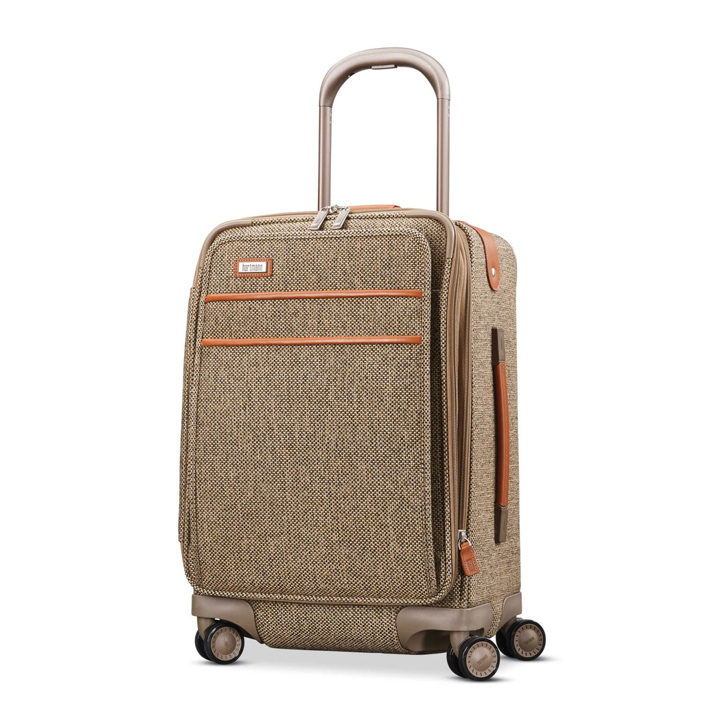 "Hartmann Tweed Legend 20"" Global Carry On Expandable Spinner Natural Tweed"