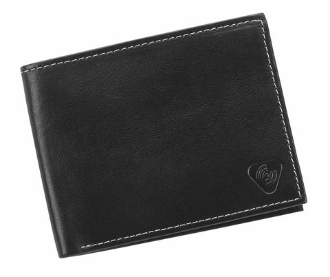 Lewis N Clark RFID Blocking Leather BiFold Wallet Black