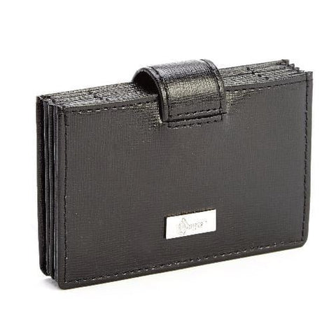 Royce Leather RFID Blocking Credit Card Organizer Wallet Black