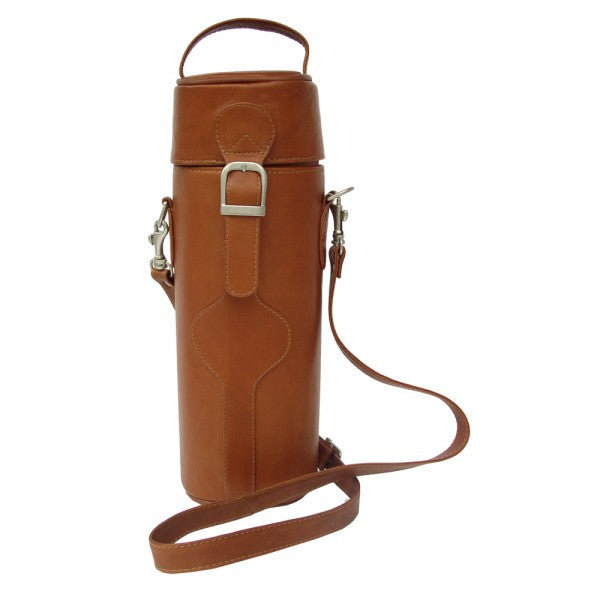 Piel Leather Single Deluxe Wine Carrier Assorted Colors