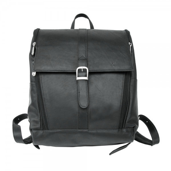 Piel Leather Slim Computer Backpack Assorted Colors