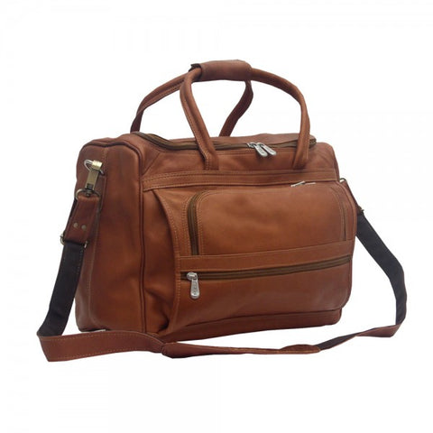 Piel Leather Small Computer Carry On Bag Assorted Colors