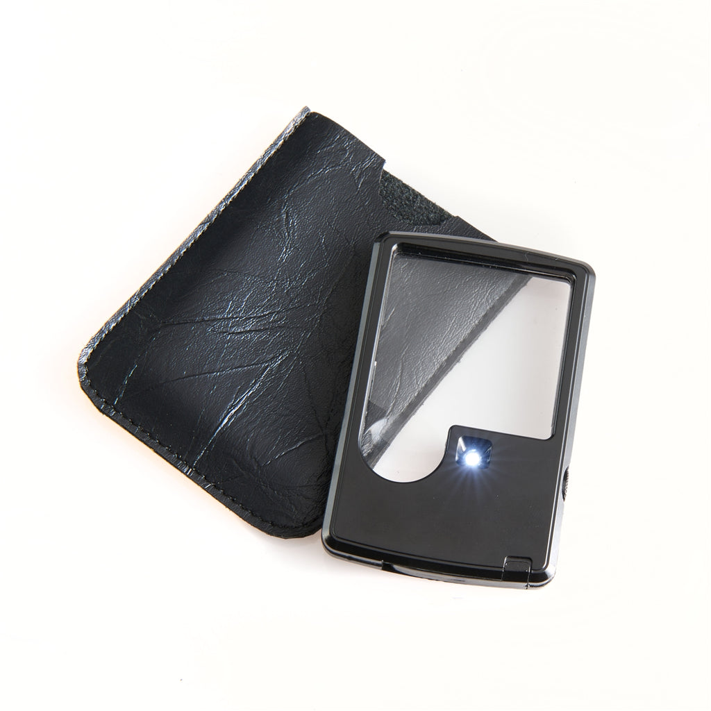 Smooth Trip Lighted Pocket Magnifier Black