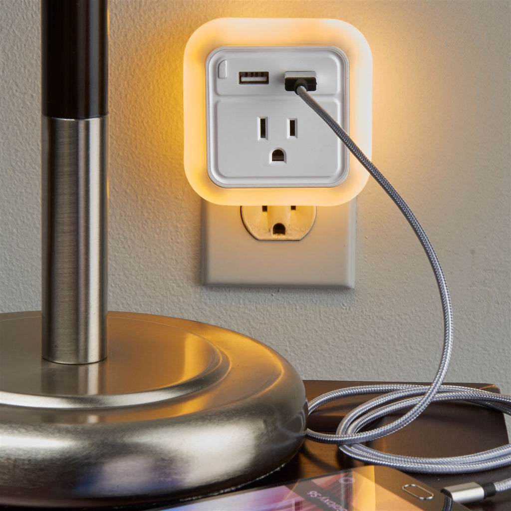 Smooth Trip Nightlight Charging Station White