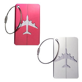 Smooth Trip Aluminum Luggage Tags 2 pack