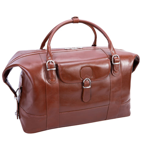 Siamod Amore Leather Duffel Bag Cognac