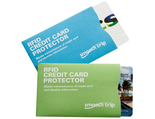 Smooth Trip RFID Credit Card Protectors 2 Pack Lime Blue
