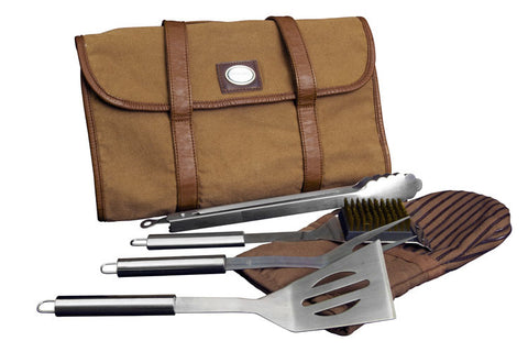 Canyon Outback Branson BBQ Tool Set Dark Tan