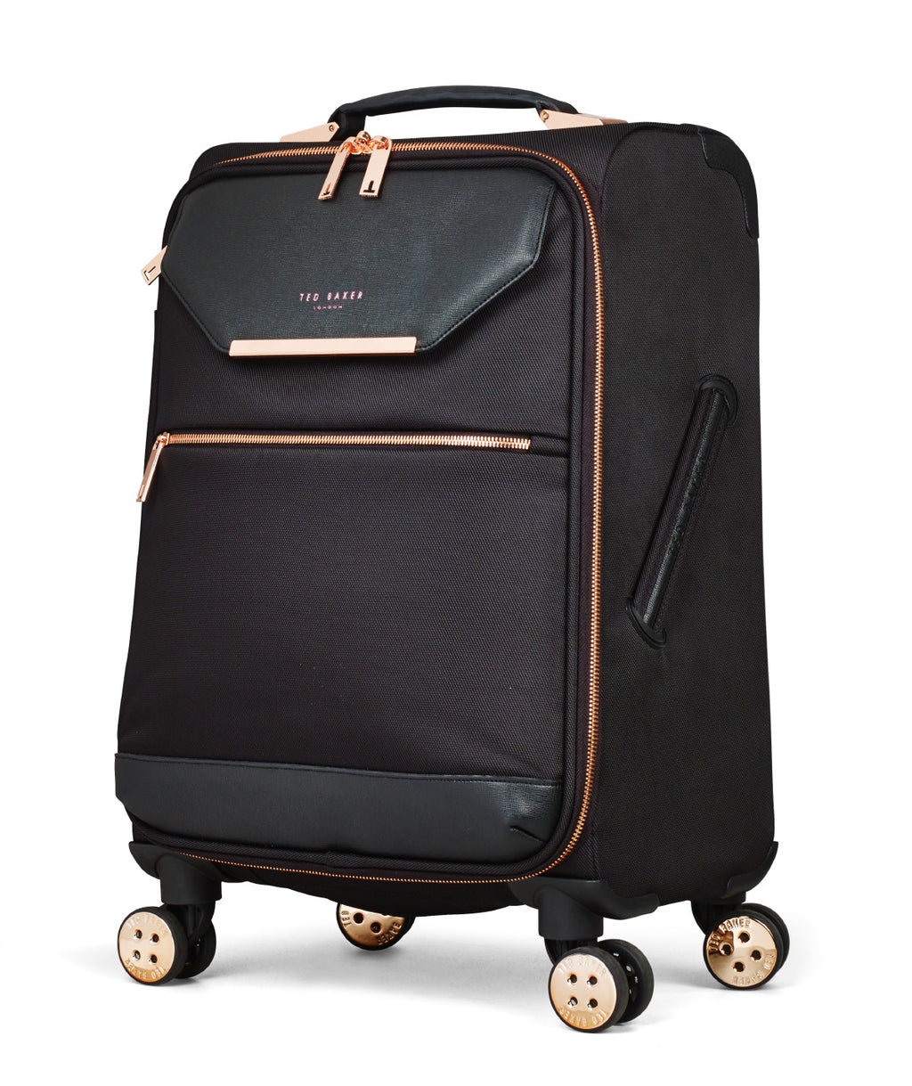 Ted Baker Women's Albany Black Softside Spinner Cabin Trolley