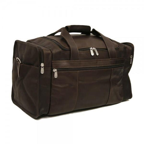 Piel Leather Travel Duffel with Side Pockets Assorted Colors