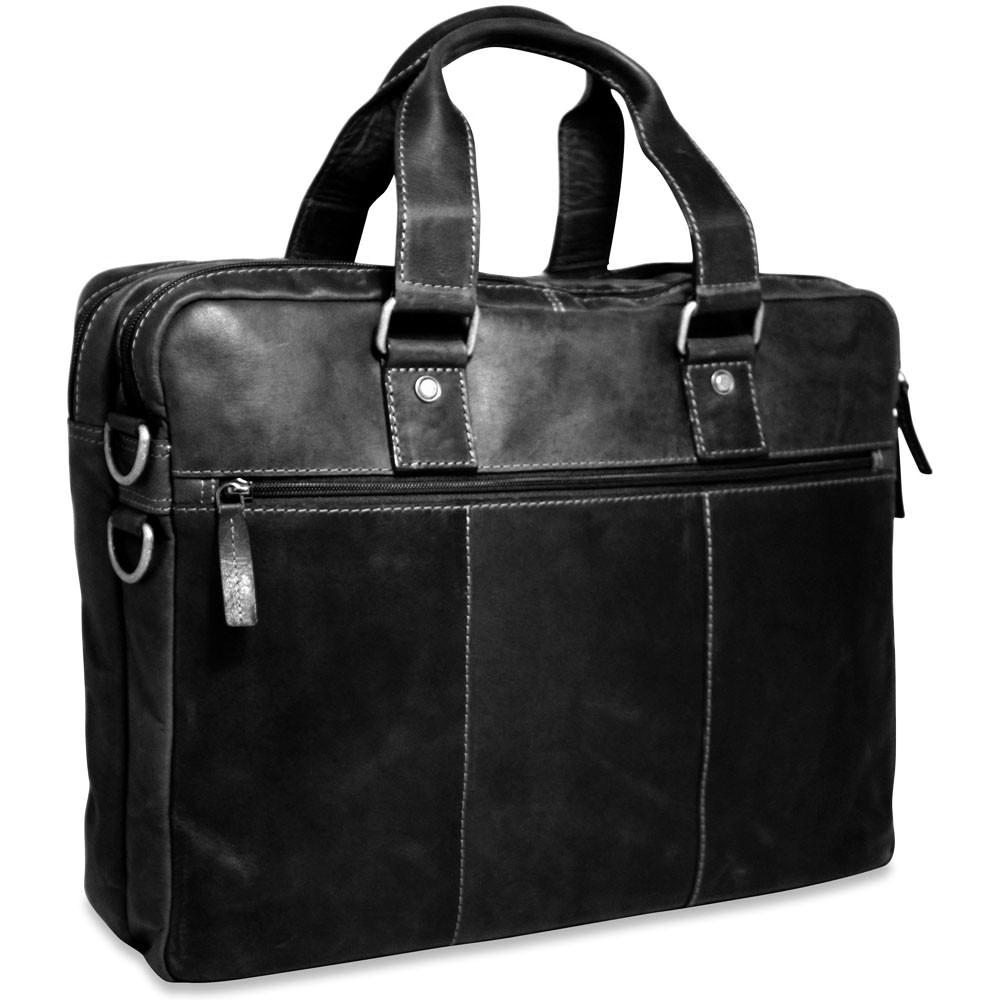 Jack Georges Voyager Large Double Gusset Briefcase Black