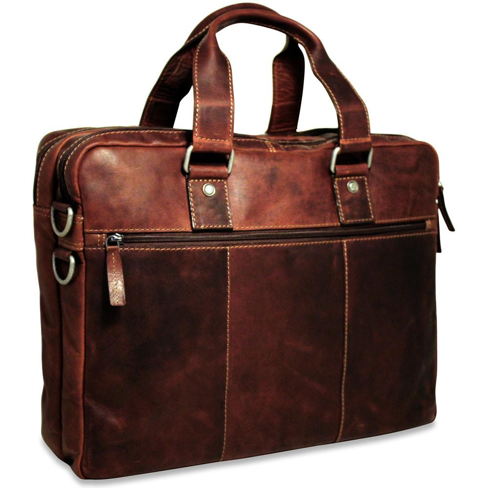 Jack Georges Voyager Large Double Gusset Briefcase Brown
