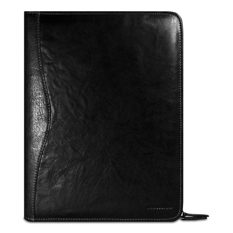 Jack Georges Voyager Collection Letter Size Zip Around Writing Pad Black