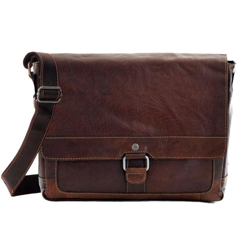 Jack Georges Voyager Messenger Bag Brown