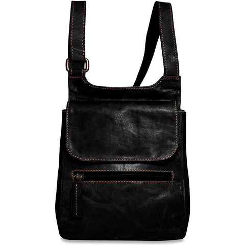 Jack Georges Voyager Collection Slim Crossbody Bag Black