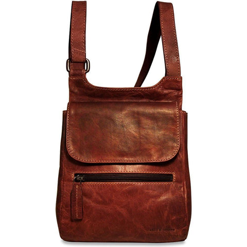 Jack Georges Voyager Collection Slim Crossbody Bag Brown