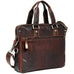 Jack Georges Voyager Slim Double Entry Top Zip Briefcase Brown
