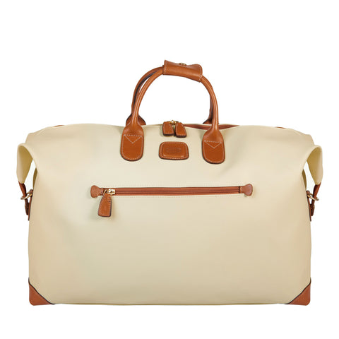 "Bric's Firenze 22"" Holdall Duffel Bag Cream"