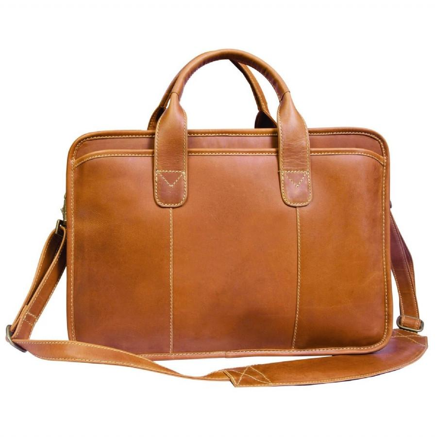 Canyon Outback Buffalo Valley 15 Inch Leather Briefcase