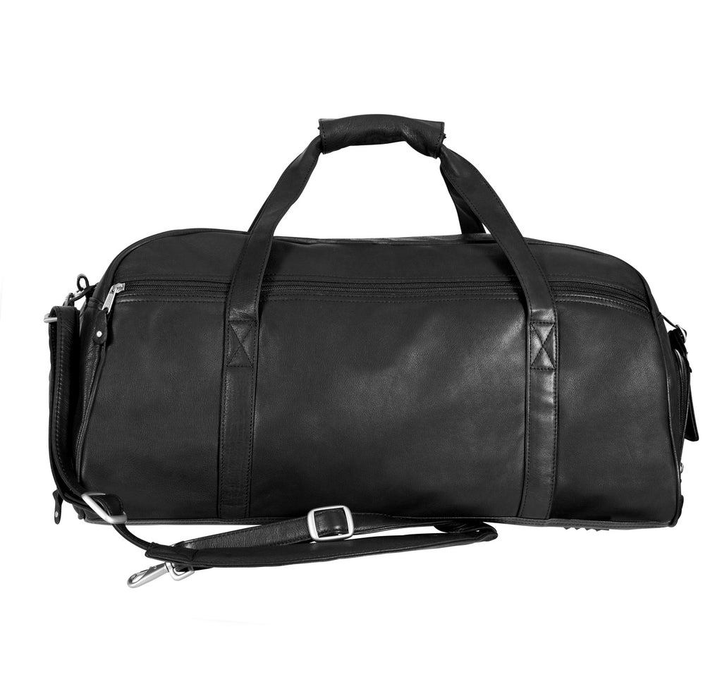 Canyon Outback Marble Canyon 23 Inch Leather Sport Duffel Black