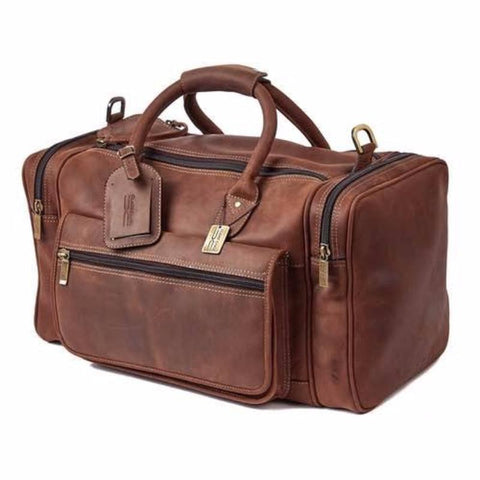 Claire Chase Rustic Sports Valise Brown