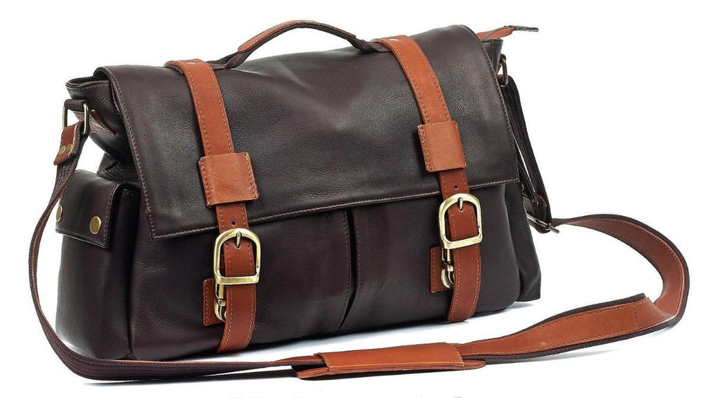 Robert Myers Classic Messenger Brown with Tan