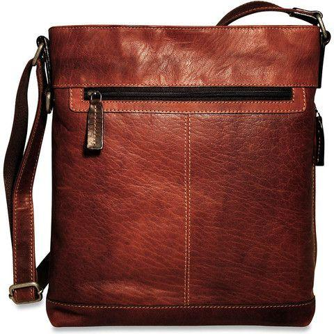 Jack Georges Voyager Collection Crossbody Bag Brown
