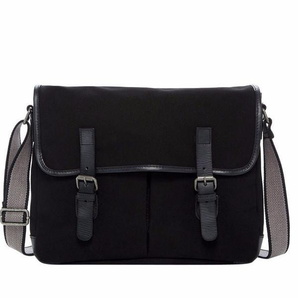 Jack Georges Canvas Messenger Bag Black