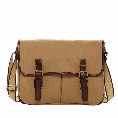 Jack Georges Canvas Messenger Bag Khaki