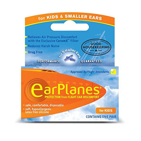 Lewis N Clark EarPlanes Kids Ear Plugs