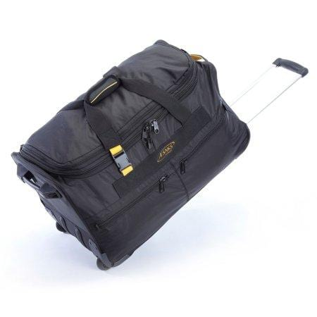 A.Saks Deluxe Expandable 25 Inch Wheeled Duffel Black