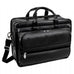 "McKlein USA Franklin 15.6"" Leather Detachable Wheeled Laptop Briefcase Black"
