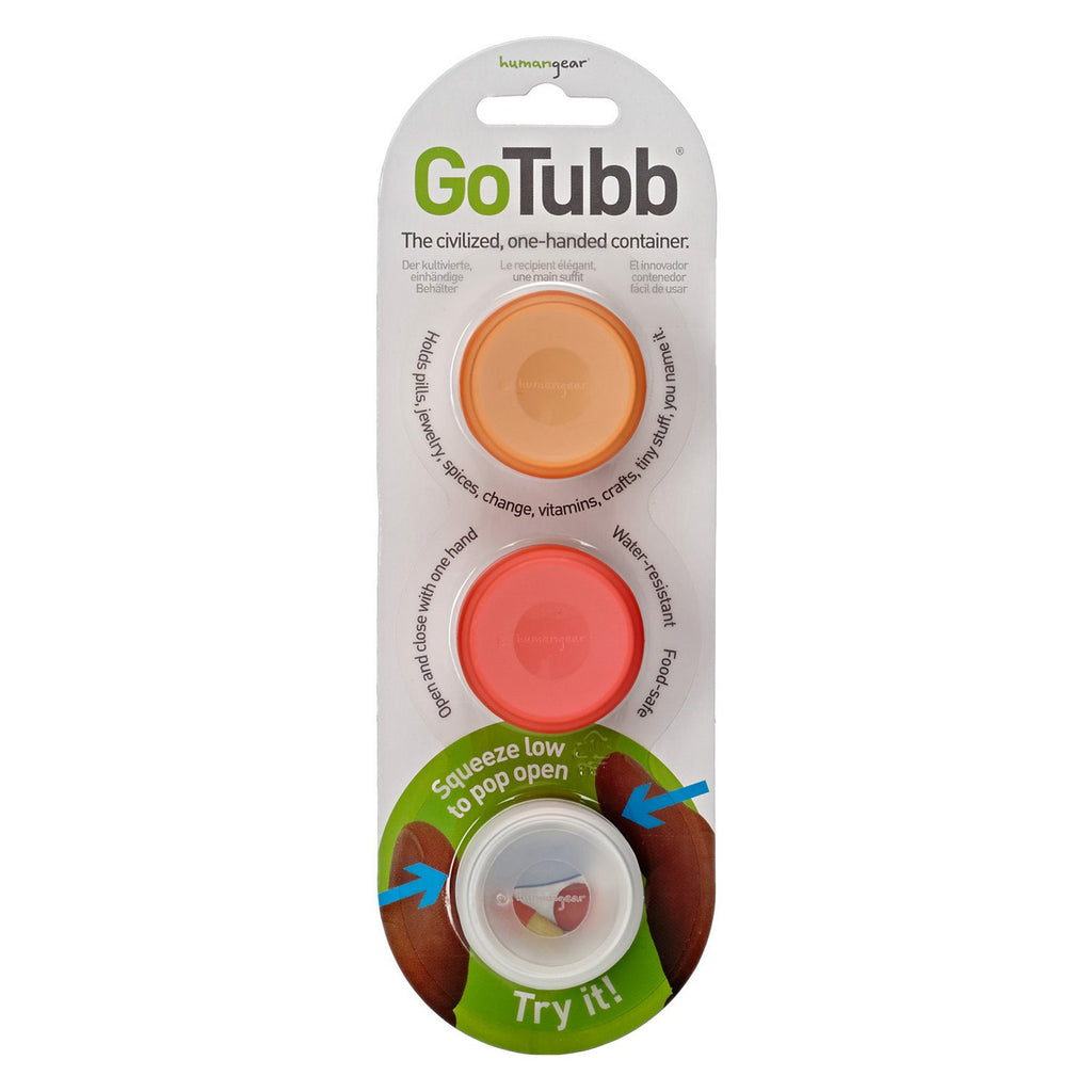 Humangear Go Tubbs Small Containers 3 Pack