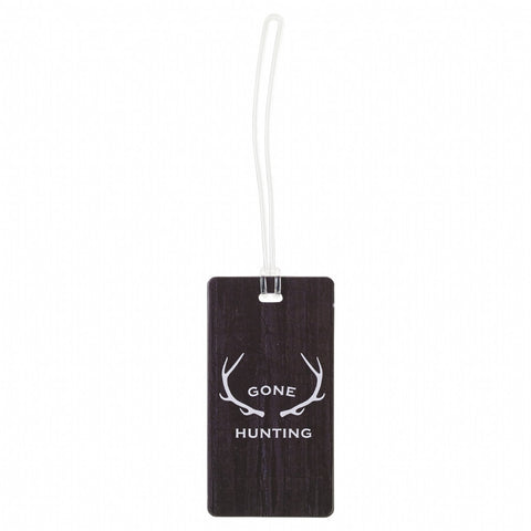 Lewis N Clark Gone Hunting Antlers Wood Luggage Tag