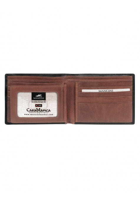Mancini Casablanca Men's Billfold with Removable Passcase