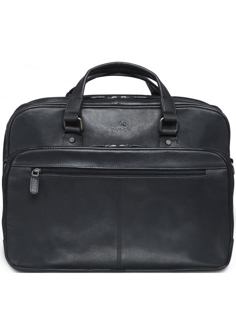 Mancini Buffalo Expandable Double Compartment Briefcase for 15.6'' Laptop / Tablet