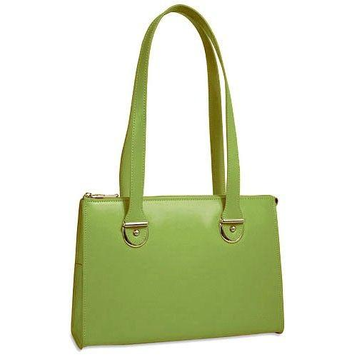 Jack Georges Milano Collection Top Zip Shoulder Bag Green