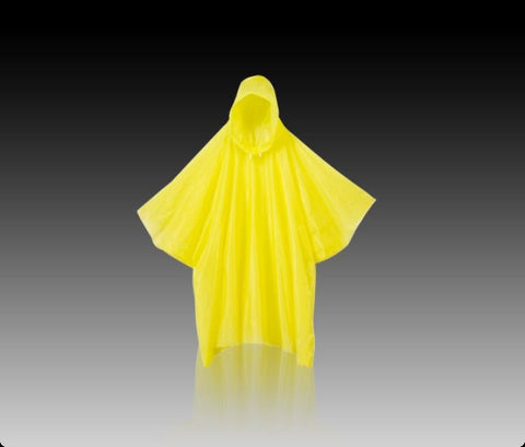 Emergency poncho yellow