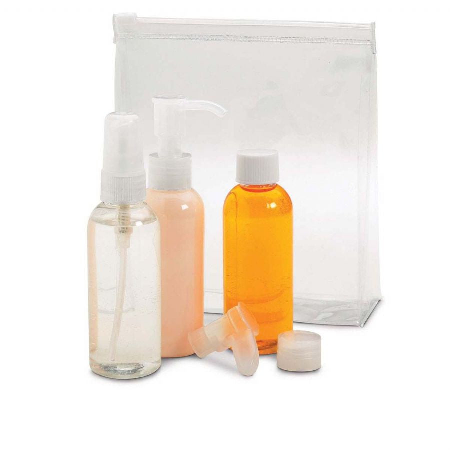 Smooth Trip Clear Travel Bottle Set