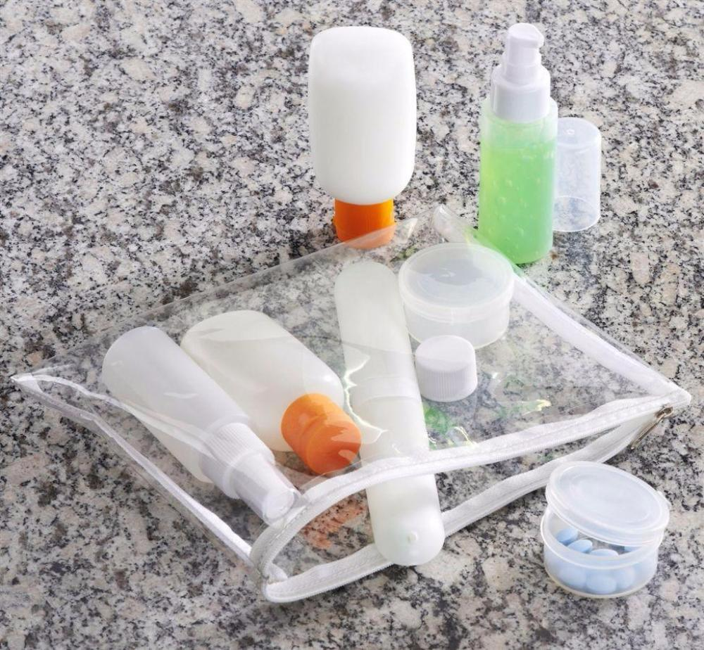 Smooth Trip 311 Carry-On Travel Bottle Set Clear