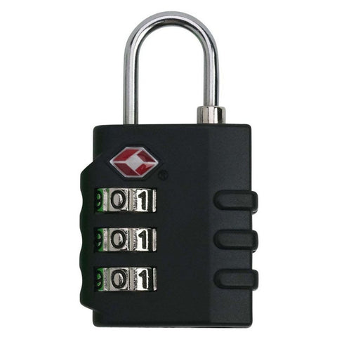 Smooth Trip TSA Approved 3 Combo Indicator Lock Black