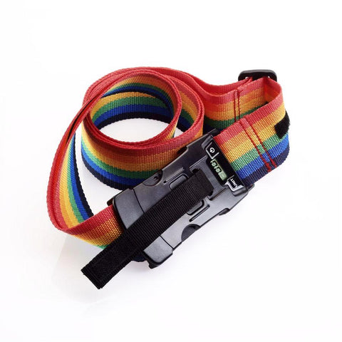 Smooth Trip Digital Scale Luggage Strap Rainbow