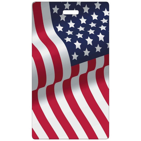 Smooth Trip American Flag Luggage Tag
