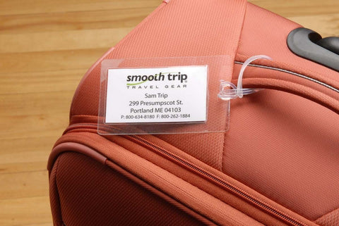 Smooth Trip Self Laminating Luggage Tags 4 Pk