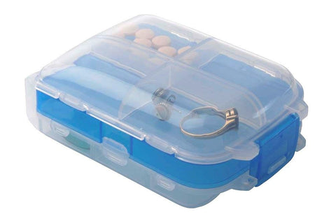 Smooth Trip Travel Tri-Fold Pill & Storage Box