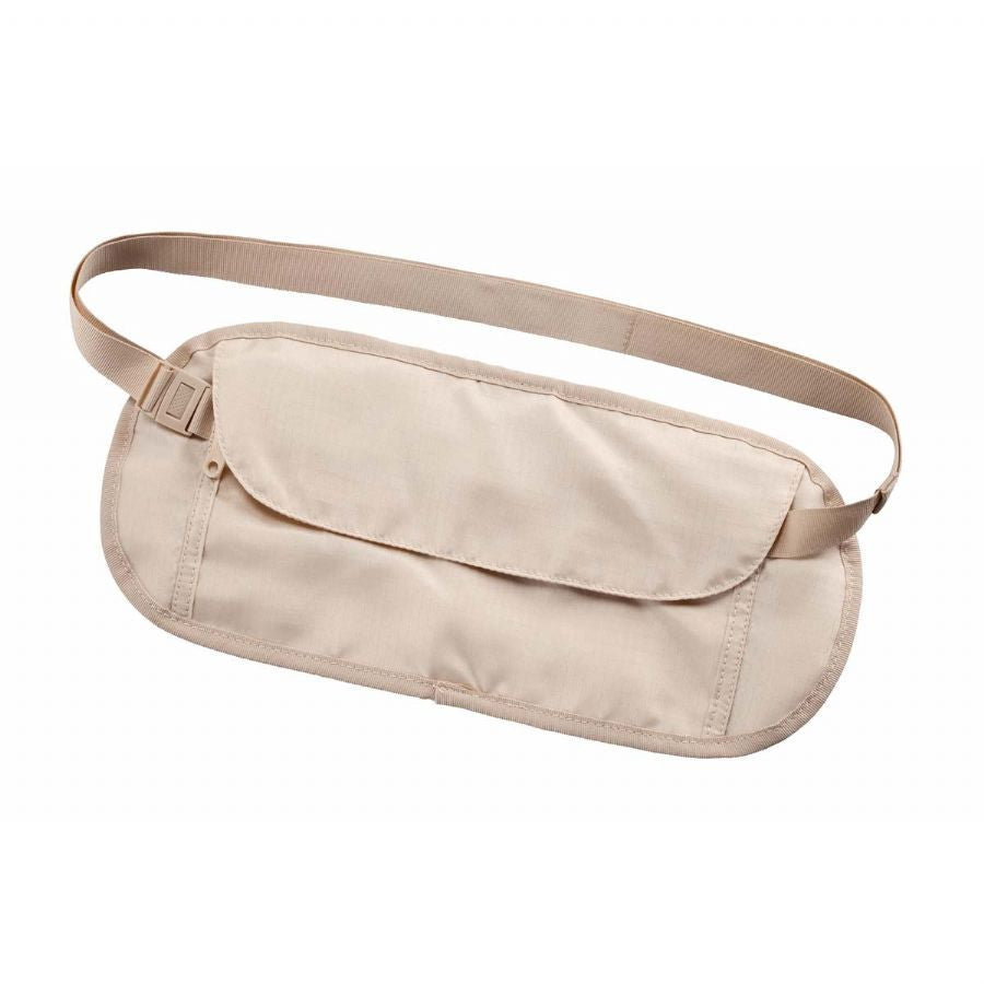 Smooth Trip CoolMax RFID Blocking Waist Money Belt Tan